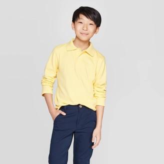 Cat & Jack Boys' Long Sleeve Interlock Uniform Polo Shirt - Cat & JackTM