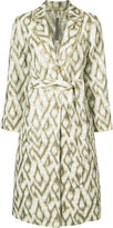 Raquel Allegra print coat - women - Cotton - 0