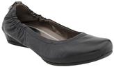 Earthies Black Leather Tolo Flat
