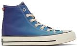 Converse Blue and Purple PrimaLoft Chuck 70 High Sneakers