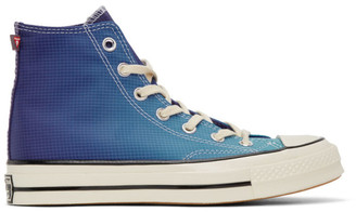 Converse Blue and Purple PrimaLoft Chuck 70 High Sneakers