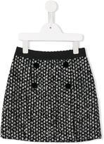 Dolce & Gabbana buttoned tweed mini skirt