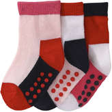 Joe Fresh Baby Girls' 3 Pack Essential Socks, Pink (Size 0-12)