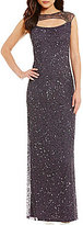 Pisarro Nights Front Key Hole Sequin Gown