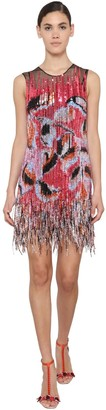 Emilio Pucci Embellished Mini Dress W/ Fringe