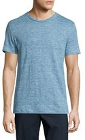 Theory Koree Linen Melange Short-Sleeve T-Shirt, Electric