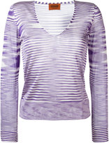 Missoni V-neck knitted blouse - women - Rayon - 42