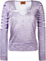 Missoni V-neck knitted blouse