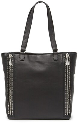 Frye Lexi Leather Zipper Trim Tote Bag