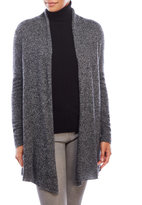in cashmere Long Sleeve Marled Open Cardigan
