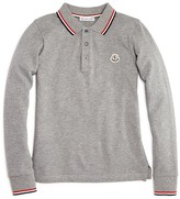 Moncler Boys' Color-Tipped Polo Shirt - Sizes 8-14