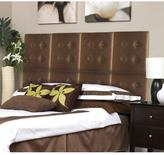 AZ Home and Gifts Next Luxe 18 in. x 18 in. 8-Wall Panel Headboard Set in Paisley Satin Brown
