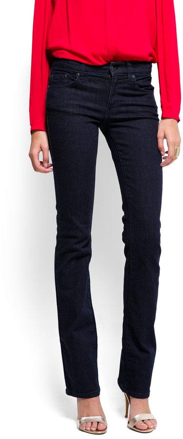 MANGO High-waist boot-cut jeans
