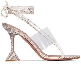 Amina Muaddi Zula 95mm wrap sandals