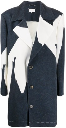 Maison Margiela Abstract Printed Overcoat