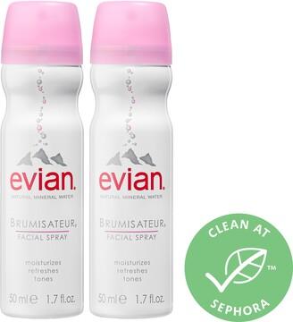 Evian Brumisateur Natural Mineral Water Facial Spray Travel Duo