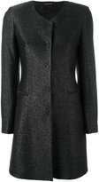 Tagliatore concealed placket coat - women - Cotton/Polyamide - 40