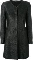 Tagliatore concealed placket coat