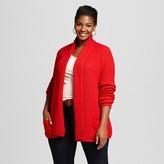 Women's Plus Size Textured Open Layering Cardigan - Merona