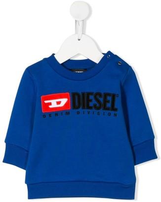 Diesel logo embroidered sweatshirt