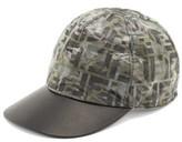 Fendi Ff Camo-print Nylon Baseball Cap - Mens - Black Multi
