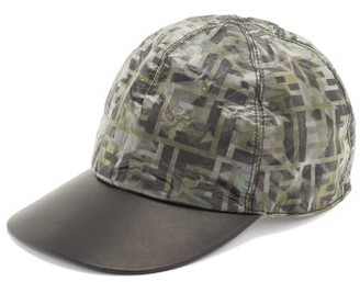 Fendi Ff Camo-print Nylon Baseball Cap - Mens - Black Multi