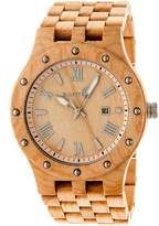 Earth Wood Earth Inyo Eco-Friendly Sustainable Wood Quartz Bracelet Watch, 46mm