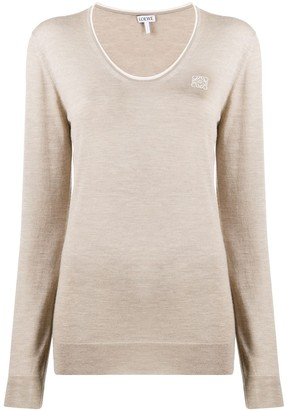 Loewe V-neck knitted top