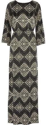 Alice + Olivia Christabel Printed Silk-Chiffon Kaftan Dress