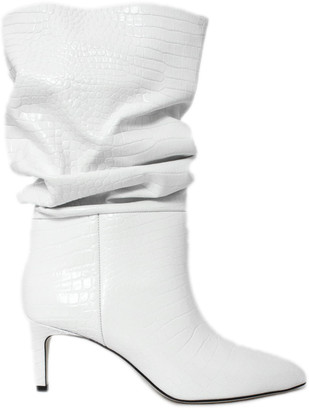 Paris Texas White Leather Boots