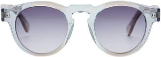 Illesteva Leonard Rounded Mirror Sunglasses