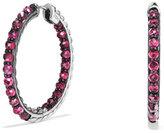 David Yurman Osetra Faceted Rhodolite Garnet Hoop Earrings