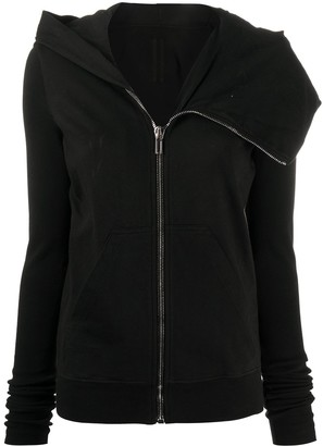 Rick Owens draped collar zip up jacket