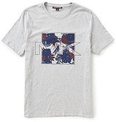 Michael Kors Floral Palm Short-Sleeve Crew Neck Graphic Tee