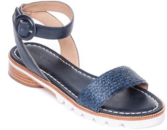 Bernardo Adjustable Strap Sandals - Alexis Raffia