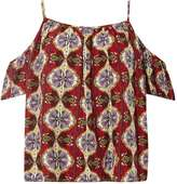 Izabel London **Izabel London Multi Red Eastern Print Top