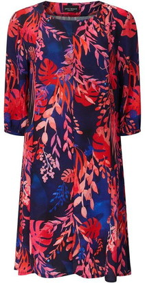 James Lakeland Tropical Print Shift Dress