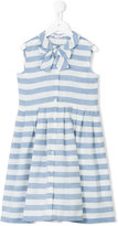 Il Gufo striped buttoned dress - kids - Cotton/Linen/Flax - 8 yrs