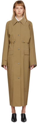 Kassl Editions Tan Pop Oil Cape Coat