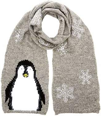 Yumi Women's PENGUIN SCARF Light Grey, (Size: )