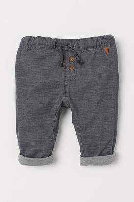 H&M Fully Lined Corduroy Pants - Gray