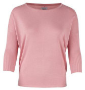Saint Tropez Knit Sweater With Ribbed Sleeves Crystal Rose - XS / Crystal Rose