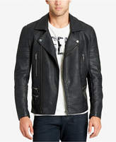William Rast Men's Faux-Leather Moto Jacket