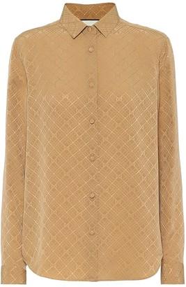 Gucci GG silk-crepe jacquard shirt