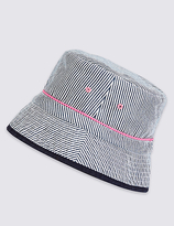 M&S Collection Striped Summer Hat