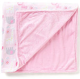 Starting Out Baby Girls Reversible Jungle Print/Solid Fleece Blanket