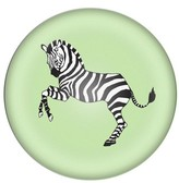 Cathy's Concepts Zebra Domed Glass Paperweight - Green