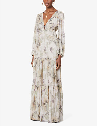 BA&SH Lili floral-print woven midi dress