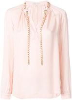 MICHAEL Michael Kors chain appliqué blouse - women - Silk - M