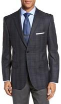 JB Britches Men's Classic Fit Plaid Wool Sport Coat